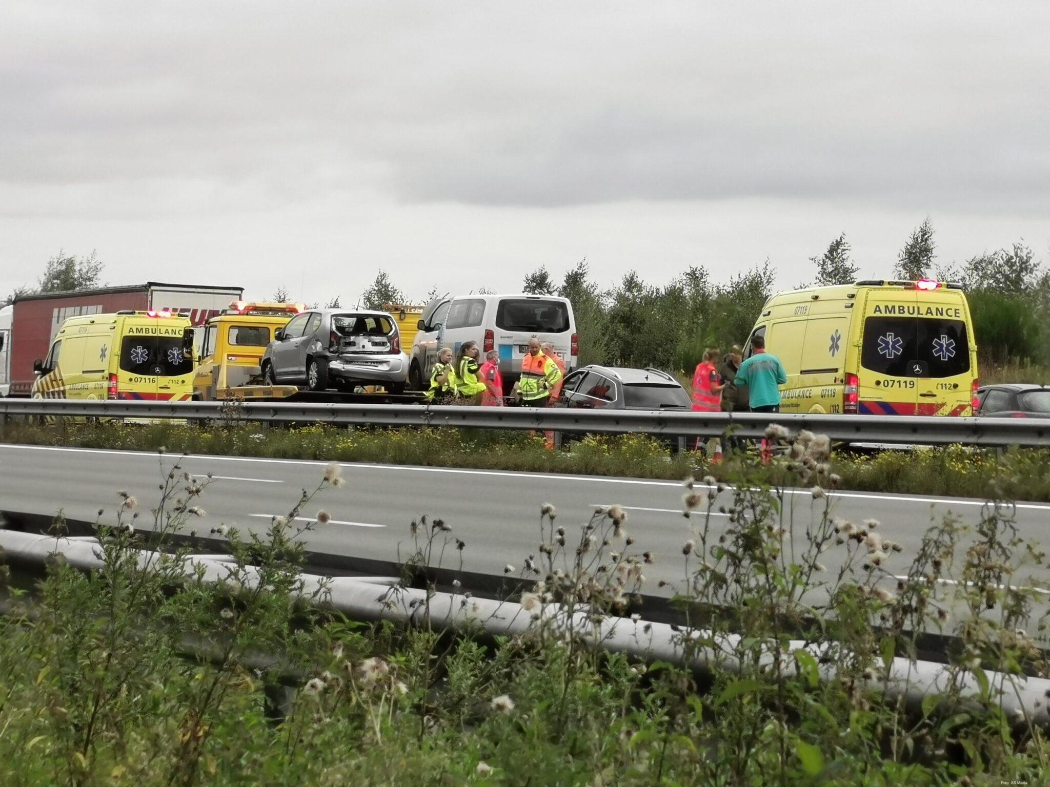 Vier voertuigen betrokken bij ongeval op snelweg Ede.