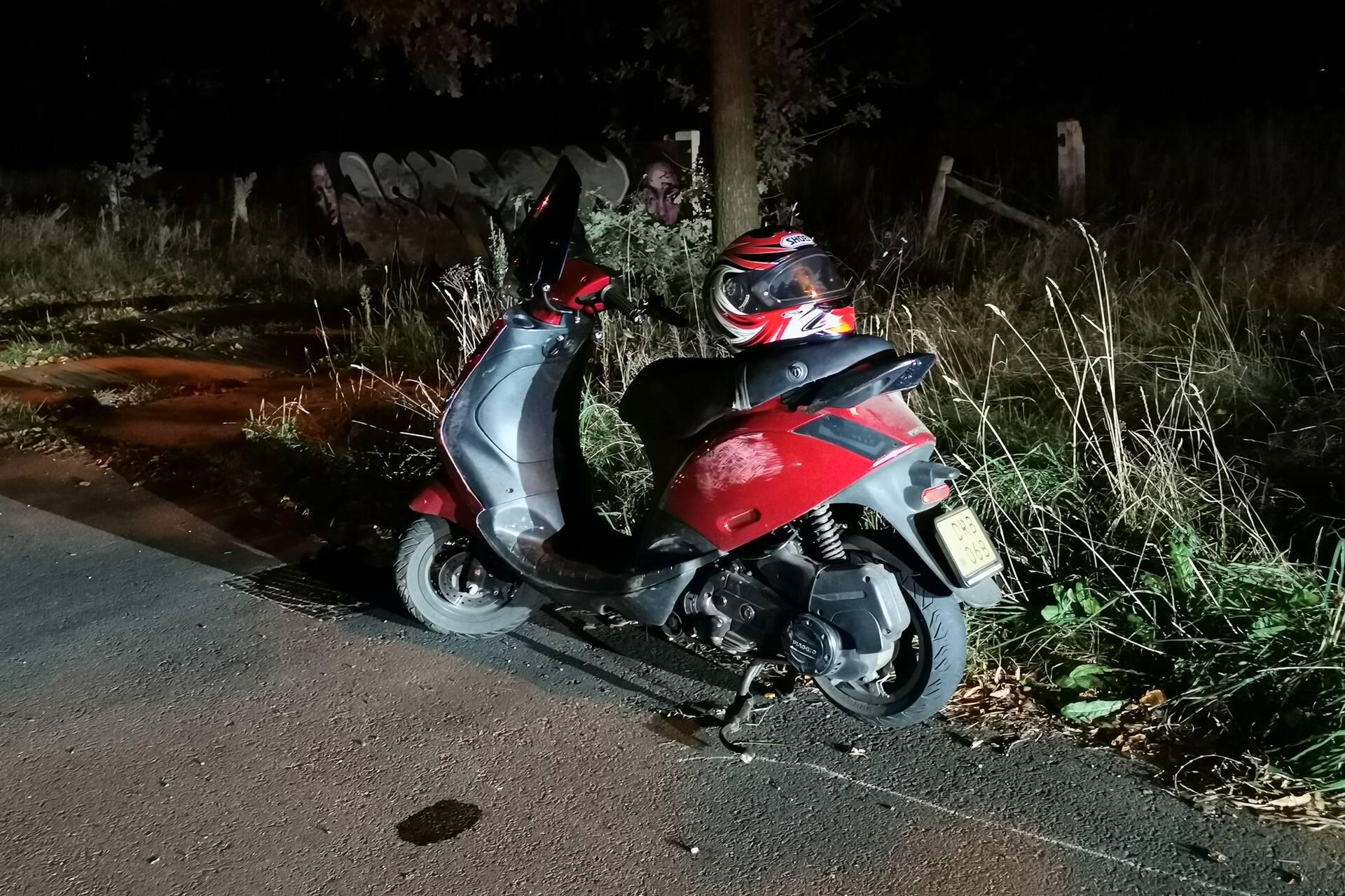 Persoon gewond door ongeval met bromfiets in Bennekom.